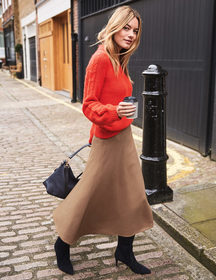 Boden British Tweed Midi Skirt