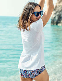 Boden The Cotton Back Detail Tee