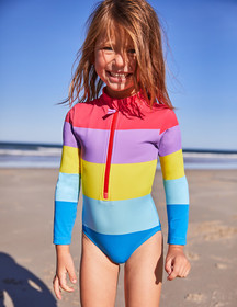 Boden Stripy Long-sleeved Swimsuit