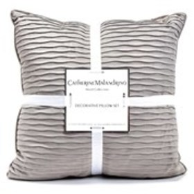 CATHERINE MALANDRINO Pleated Velvet Throw Pillows-