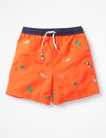 Boden Deep Sea Embroidered Trunks