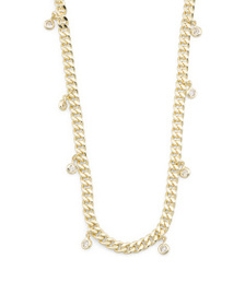 ISABELLA M Gold Plated Sterling Silver Curb Chain