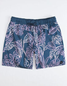 RVCA Palm Leaves Mens Volley Shorts_