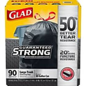 Glad 30 Gallon Drawstring Black Trash Bags, 90 cou