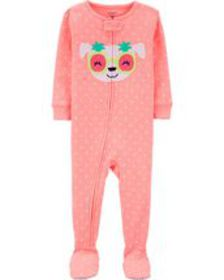 carters Baby Girl 1-Piece Neon Dog Snug Fit Cotton