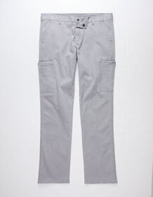 CHARLES AND A HALF Twill Light Gray Mens Cargo Pan