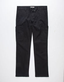 CHARLES AND A HALF Twill Black Mens Cargo Pants_