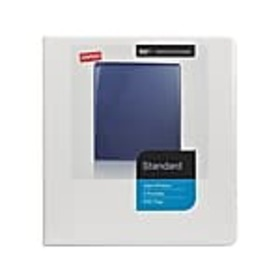 Staples Standard 1 3-Ring View Binder, White (2643
