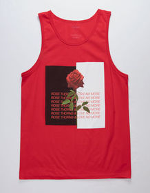 BLUE CROWN No More Love Red Mens Tank Top_