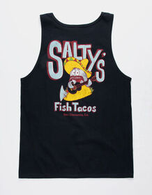 FRESH VIBES Salty's Black Mens Tank Top_
