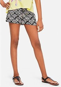 Justice Lace Up Pattern Soft Shorts