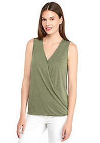The Limited Sleeveless V Neck Drape Bottom Tank