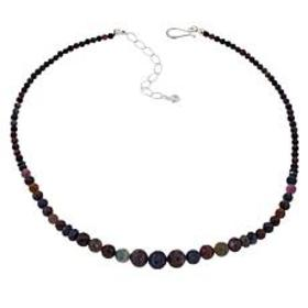 Jay King Multi Sapphire Sterling Silver Beaded Nec