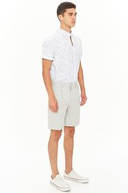 Forever21 Marled Contrast Piping Shorts