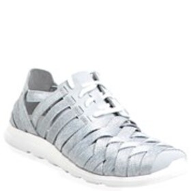 Womens Woven Stretch Comfort Sneakers