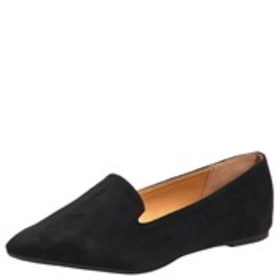 QUPID Womens Microsuede Almond Toe Flats