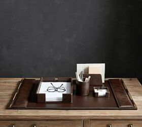 Pottery Barn Klein Leather Desk Accessories Collec