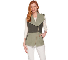 """""""As Is"""" Lisa Rinna Collection French Terry Vest -"""