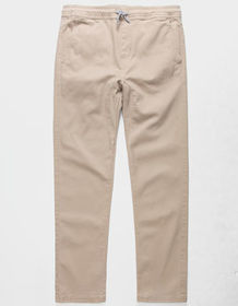 CHARLES AND A HALF Open Bottom Dark Khaki Boys Jog