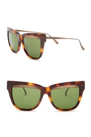 Bottega Veneta 53mm Cat Eye Sunglasses