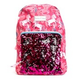 EMMA & CHLOE Girls Print Backpack with Flip Sequin
