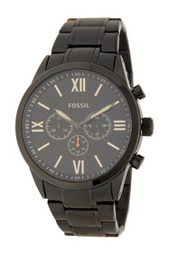 Fossil Men's Chronograph Black Stainless Steel Wat