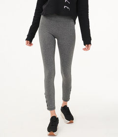 Aeropostale Heathered 7/8 Lace-Up Legging