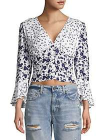 Free People Lady Bohemian Blouse IVORY
