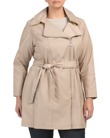 VINCE CAMUTO Plus Belted Trench Coat