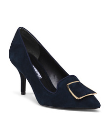 CHARLES DAVID Suede Pumps With Ornament Detail
