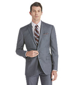 Jos Bank Traveler Collection Slim Fit Sharkskin Su