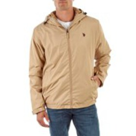 Mens Hooded Active Windbreaker With Sherpa Lining