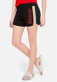 Justice Rainbow Stripe French Terry Dolphin Shorts