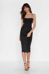 Nasty Gal Womens Black Back in the Game Cut-Out Bo