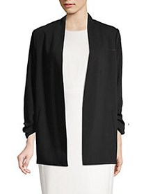 T Tahari Open-Front Kiss Jacket BLACK