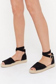Nasty Gal Womens Black Immi Suede Open Toe Ankle B