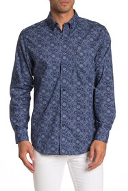Ben Sherman Long Sleeve Medallion Print Shirt