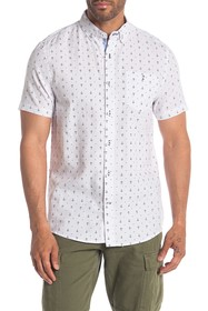 Heritage Short Sleeve Anchor Print Slim Fit Sport