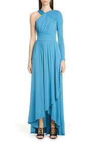 Givenchy Draped One-Shoulder Crepe Jersey Gown