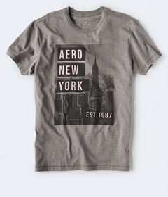Aeropostale Aero New York Skyline Graphic Tee