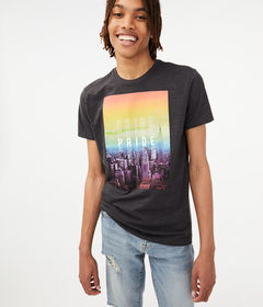 Aeropostale Repeating Pride Graphic Tee