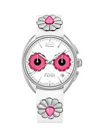 Fendi Momento Flowerland Stainless Steel & Leather