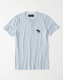 Exploded Icon Henley, LIGHT BLUE
