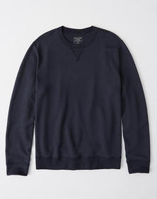 Crew Sweatshirt, NAVY BLUE