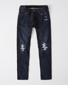 Ripped Super Skinny Jeans, DARK RIPPED WASH