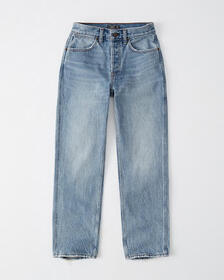High Rise Ankle Straight Jeans, MEDIUM WASH