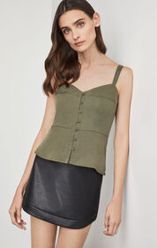 BCBG Jonesy Peplum Top