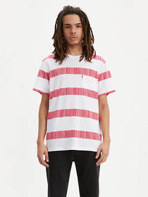Levi's Striped Sunset Pocket Tee Shirt