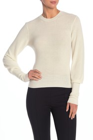 Theory Blouson Sleeve Cashmere Sweater
