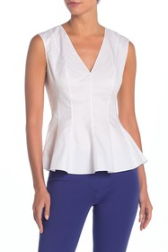 Theory Peplum V-Neck Tank